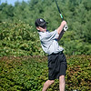 Gardner's Logan LeBlanc tees off at the Gardner Municipal Golf Course on Thursday evening. SENTINEL & ENTERPRISE/ Ashley Green