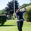 Leominster's Connor Edmands tees off at the Gardner Municipal Golf Course on Thursday evening. SENTINEL & ENTERPRISE/ Ashley Green