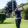 Leominster's Connor Edmands tees off at the Gardner Municipal Golf Course on Thursday evening. SENTINEL & ENTERPRISE/ Ashley Green