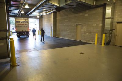 Loading dock for resident moving
