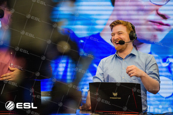 Kaelaris enjoys the action of the Intel Extreme Masters Shanghai 2017