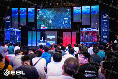 The stage of the Intel Extreme Masters Shanghai 2017