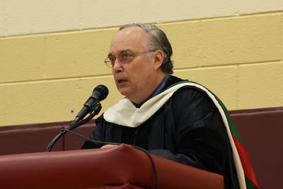 Dr. Jerry Shepherd introduces Keynote Speaker, Dr. Warren Diem at Northridge Prep Commencement 2011.