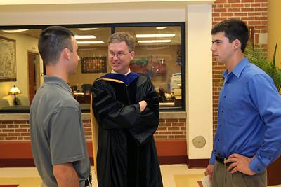Dr. Thomas Kelliher meets with Northridge Prep Alumni at Northridge Prep Commencement 2011.