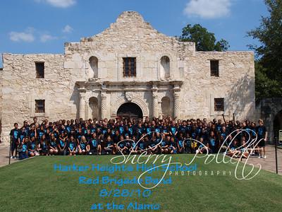 HHHS Red Brigade Band at the Alamo
