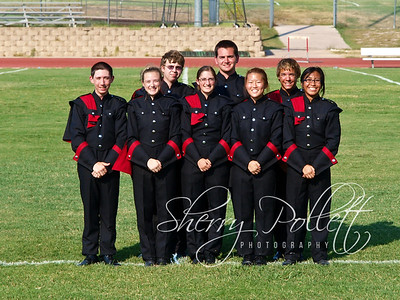HHHS Band Officers 6884-1 (2)  Back Row (L-R): Percussion Captain Tyler Hudson, Drum Major Mason Gillham, Brass Captain Cody Coulter Front Row (L-R): President Noah Golaboff, Drum Major Krista Pollett, Woodwind Captain Brooklyn Connell, Drum Major Grace Kim, Vice-President Jessica Abellanosa