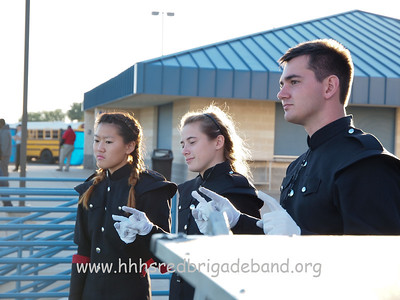 Drum Majors during last Alma Mater of the season at football game vs DeSoto.