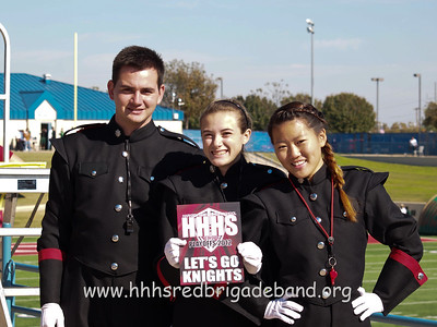 Drum Majors at the playoff game vs DeSoto