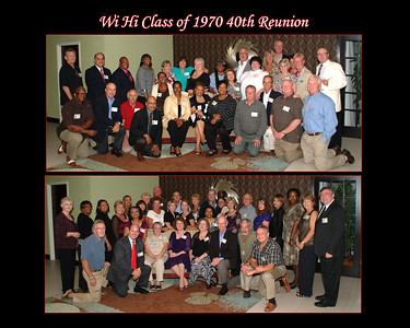 Wi Hi Class of 1970 40th Reunion