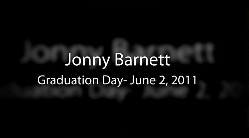 Jonny Barnett's Graduation Day<br /> Version 2<br /> Floating Style