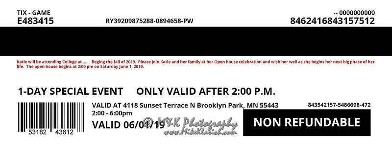 Announcement Ticket - Backside for 2x5-5