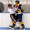 Boys Varsity Hockey: Dedham defeated Minuteman 9-1 on December 28, 2015, at Noble & Greenough in Dedham, Massachusetts.