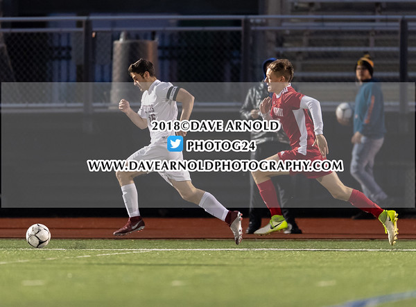 Boys Varsity Soccer: MIAA D2 North Final - Arlington defeated Masconomet 2-0 on November 12, 2018 at Manning Field in Lynn, Massachusetts.