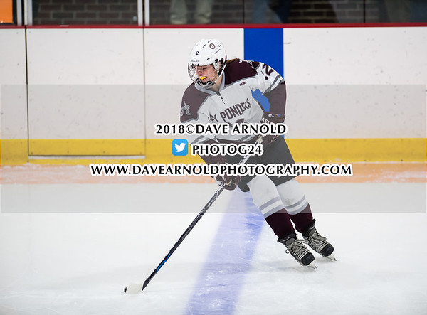 Girls Varsity Hockey: Austin Prep defeated Arlington 4-0 on January 17, 2018, at Ed Burns Arena in Arlington, Massachusetts.