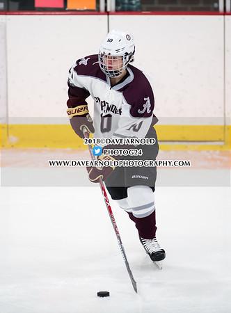 Girls Varsity Hockey: Austin Prep defeated Arlington 4-0 on January 17, 2018, at Ed Burns Arena in Arlington, Massachusetts.