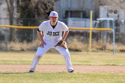 Salt Lake City, UT - Monday March 15, 2021: Baseball Varsity. Viewmont at Judge Memorial at Bulldog Field. ©2021 Bryan Byerly