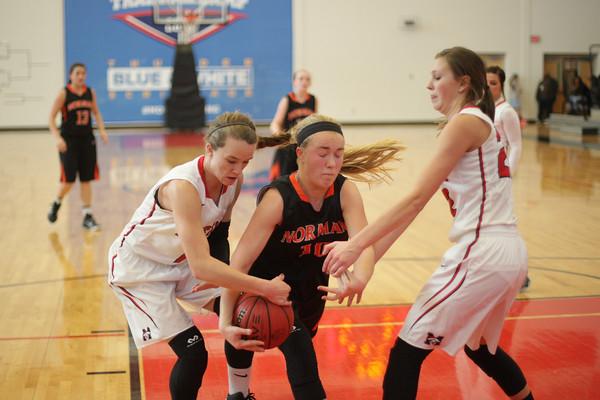 NHS girls basketball plays Mustang at Westmoore