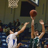 Norman North's Tye Neubauer (31) takes a shot during the Timberwolves' game against Southeast Saturday at teh Shawnee Shootout.<br /> Kyle Phillips/The Transcript