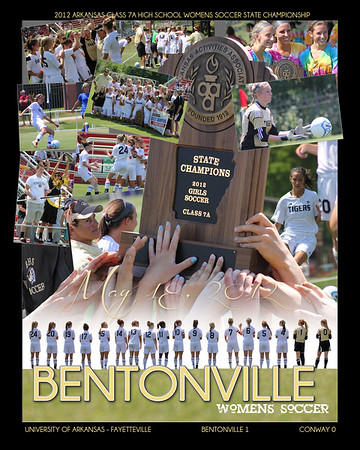 Bentonville Soccer Commemorative Collage