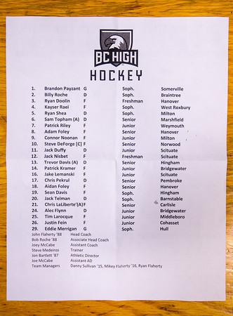 Malden Catholic Boys Varsity Hockey defeated BC High 3-1 on Saturday February 8, 2014, at the Valley II Forum in Malden, Massachusetts.