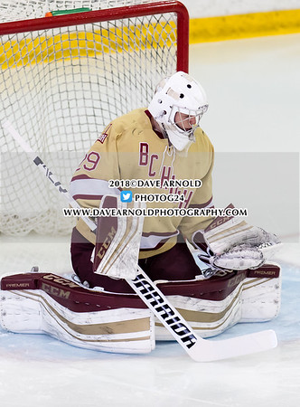 Boys Varsity Hockey: BC High defeated Catholic Memorial 5-0 on January 28, 2018, at Mass Boston in Boston, Massachusetts.