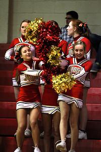 Judge Memorial BB vs Juan Diego 1-15-2013. Cheerleaders