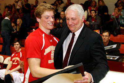 Judge Memorial BB vs Union 2-1-2013. Patrick Neville (31) & Coach Marty Giovacchini