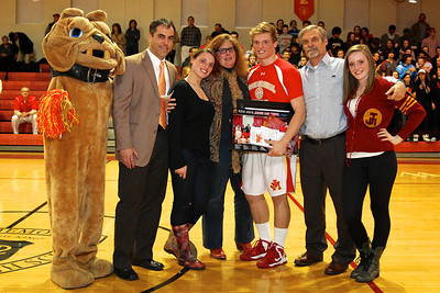 Judge Memorial BB vs Union 2-1-2013. Patrick Neville (31) and Family