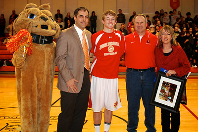 Judge Memorial BB vs Union 2-1-2013. Joe Cramer (24) and Family