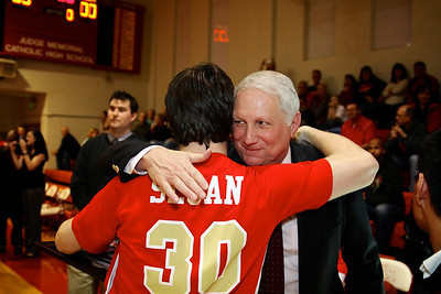 Judge Memorial BB vs Union 2-1-2013. Sean Sloan (30) & Coach Marty Giovacchini