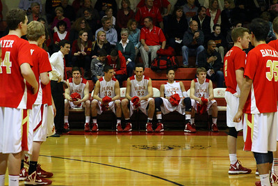 Judge Memorial BB vs Union 2-1-2013. Sean Sloan (30), Tyler Wilkerson (33), Thomas Oriente (52), Terrell Young (11), Joe Cremer (24)