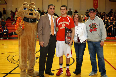 Judge Memorial BB vs Union 2-1-2013. Tyler Wilkerson (33) & Family,