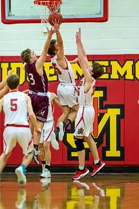 Salt Lake City, UT - Friday February 07, 2020: High School Boys FROSH/SOPH Basketball. Morgan vs Judge Memorial at Judge Memorial High School. ©2020 Bryan Byerly
