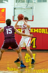Salt Lake City, UT - Friday February 07, 2020: High School Boys Junior Varsity Basketball. Morgan vs Judge Memorial at Judge Memorial High School. ©2020 Bryan Byerly
