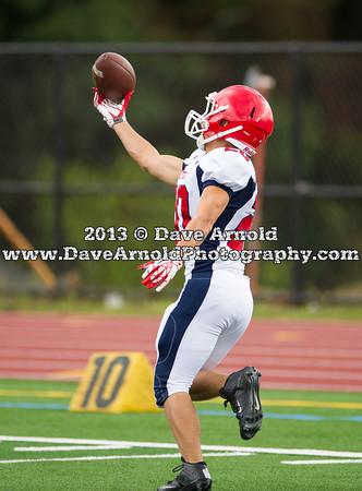 Xaverian Varsity Football defeated Bridgewater-Raynham 49-13 on September 21, 2013, at Xaverian HighSchool in Norwood, Massachusetts.