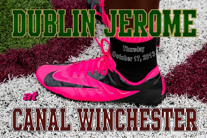 Thursday, October 17, 2013 - Dublin Jerome Celtics at Canal Winchester Indians - Freshmen Football