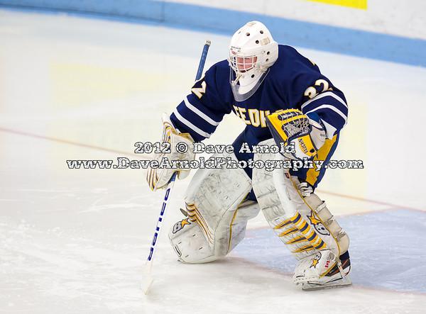 Catholic Memorial Boys Varsity Hockey defeated Needham 5-2 on December 12, 2012, at Walter Brown Arena in Boston, Massachusetts.
