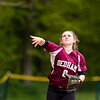 Varsity Softball: Needham defeated Dedham 8-3 on May 24, 2016, at Needham High School in Needham, Massachusetts.