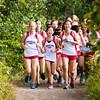 Girls JV Cross Country Quad-Meet: Needham, Braintree, Milton and Dedham on September 14, 2016, at Needham High School in Needham, Massachusetts.