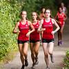 Girls Varsity Cross Country Quad-Meet: Needham, Braintree, Milton and Dedham on September 14, 2016, at Needham High School in Needham, Massachusetts.