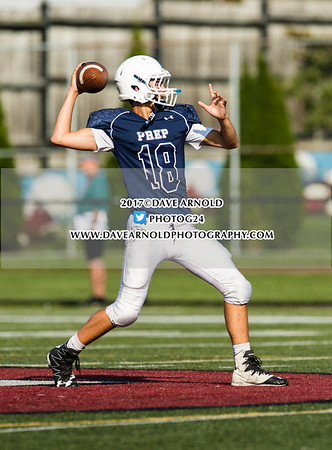 JV Football: St. John's Prep defeated Everett 34-30 on September 25, 2017 at Everett High School in Everett, Massachusetts.