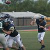 NN v Southmoore football at Mustang scrim 5