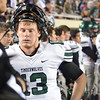 Norman North's Peyton Gavras reacts after Jenks scores a touchdown Friday during the Timberwolves' game against the Trojans in the 6A State championship football game in Stillwater.