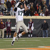 Norman North's Channing Meyer makes a leaping catch Friday  6A State championship football game in Stillwater.<br /> Kyle Phillips/The Transcript