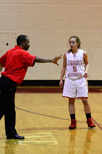 Judge Memorial WBB vs Park CIty 1-22-2013. Coach Anthony Alford & Emily Smith (5)