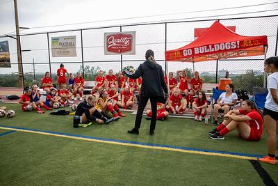 Salt Lake City, UT - Tuesday August 31, 2021: High School Varsity Girls Soccer. RSL Academy vs Judge at Judge Memorial High School. ©2021 Bryan Byerly