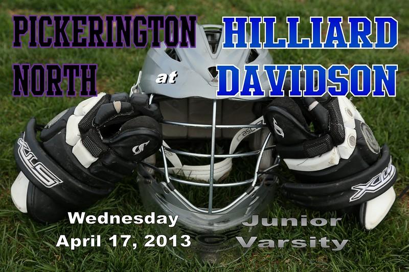 Wednesday, April 17, 2013 - Pickerington North Panthers at Hilliard Davidson Wildcats - Junior Varsity