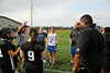 Team Captains, Coaches and the Coin Toss - Wednesday, April 17, 2013 - Pickerington North Panthers at Hilliard Davidson Wildcats - Junior Varsity