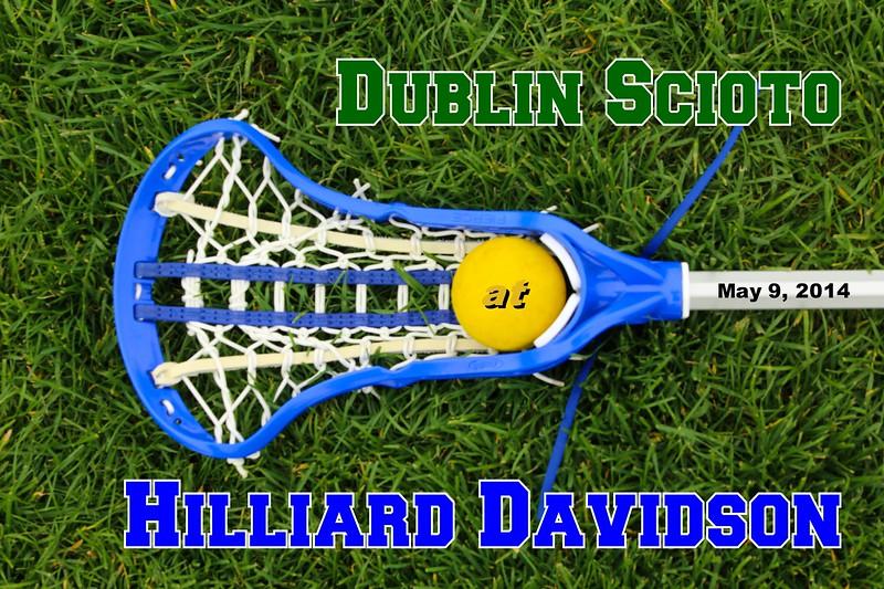 Friday, May 9, 2014 - Dublin Scioto Irish at Hilliard Davidson Wildcats - Senior Day