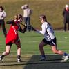 Needham Girls Varsity Lacrosse defeated Hingham 16-6 on April 1, 2014, at Needham High School in Needham, Massachusetts.